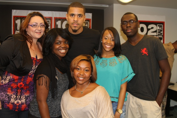Contest win an autographed copy of j coles cole world thoughts j cole came through the 102 jamz studios for a meet and greet with some jamz listeners on friday and while he was there i had him sign a copy of his m4hsunfo