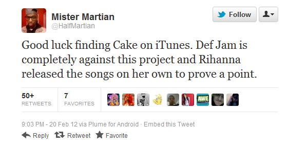 Astonishing Report Def Jam Refuses To Post Rihannas Birthday Cake On Funny Birthday Cards Online Elaedamsfinfo